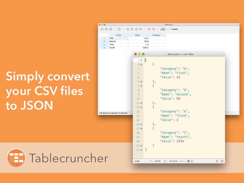 Tutorial: Convert CSV to JSON on a Mac | Tablecruncher
