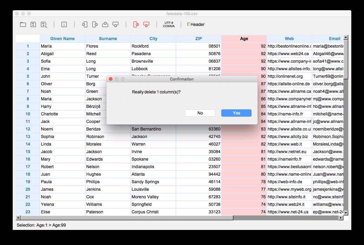 Tablecruncher – Lightweight CSV editor for your Mac